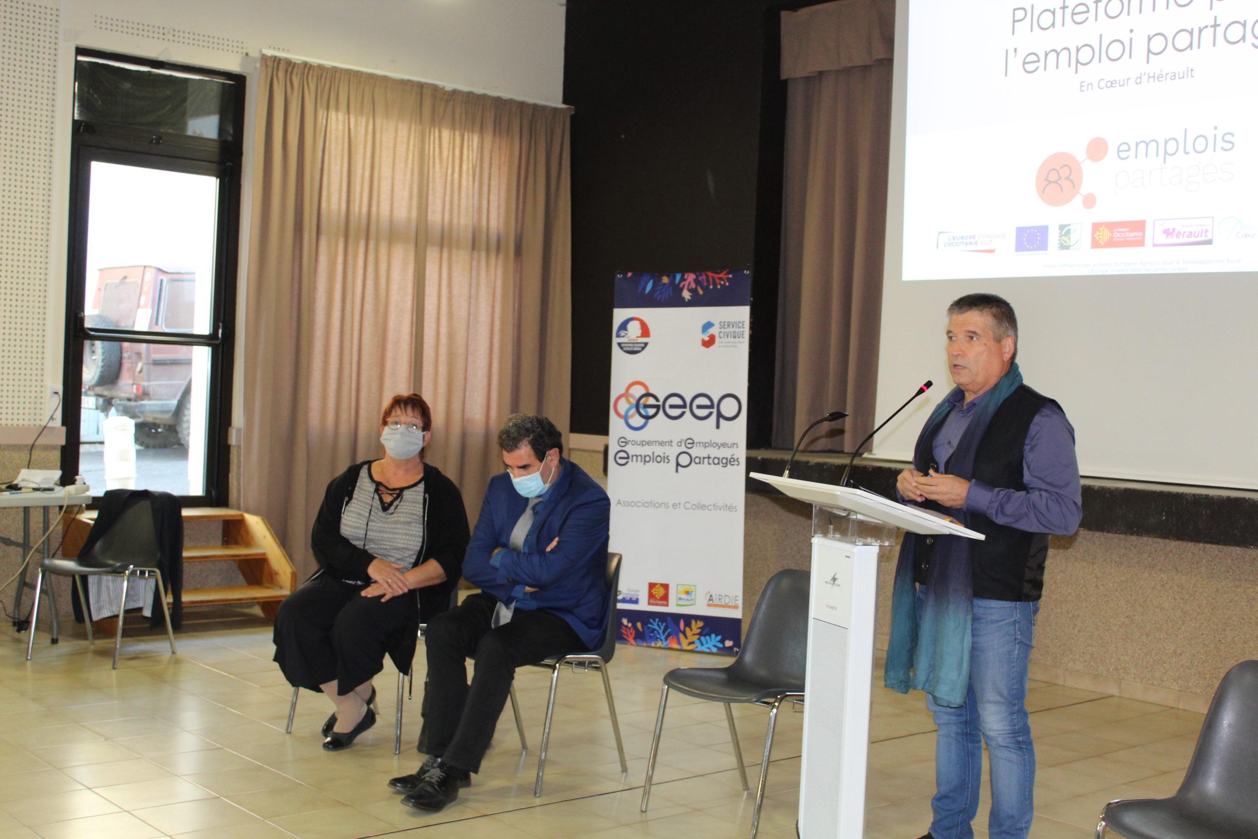 nicoel morere CD 34, JF Soto président Pays et Francis Bardeau, président Gepp