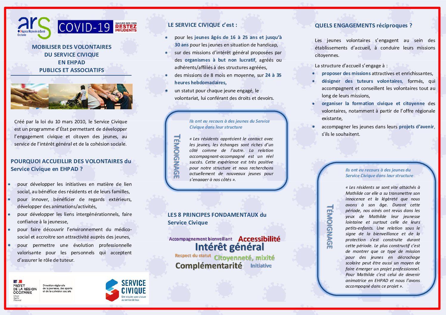 Campagne régionale Service civique en Ehpad(s).Le Geep partenaire