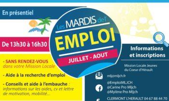 Les mardis de l'emploi de la Mission locale  Coeur d'Hérault